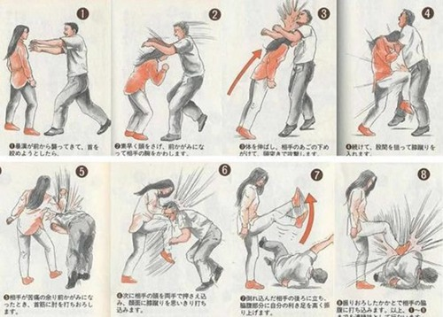 日本公交车咸猪手事件-女子防身术