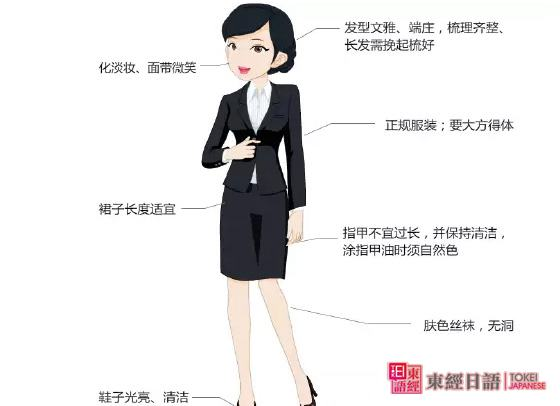 日企女性面试要求-商务礼仪-商务日语