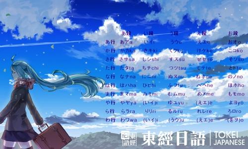 日语五十音图表